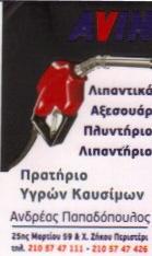 ΠΡΑΤΗΡΙΟ ΥΓΡΩΝ ΚΑΥΣΙΜΩΝ ΠΕΡΙΣΤΕΡΙ AVIN